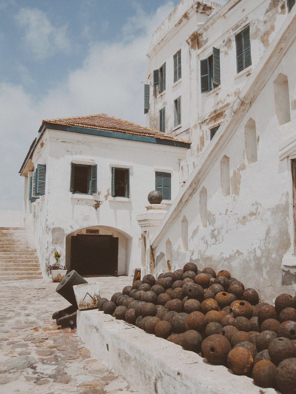 "Cape Coast Castle, one of the ""slave castles"" along Ghana's coast  