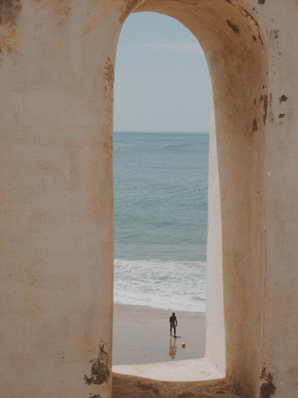 View from Cape Coast Castle, Ghana  |  Photo by Caroline Taft, The Brazen Gourmand