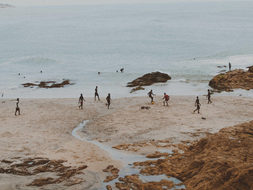 Football match in Cape Coast, Ghana  |  Photo by Caroline Taft, The Brazen Gourmand
