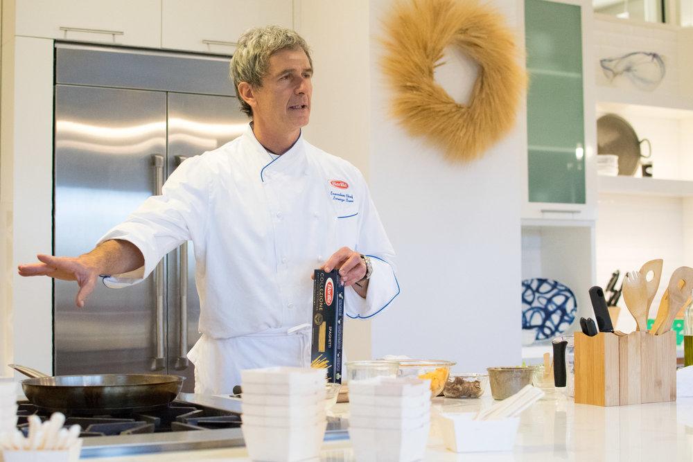 Chille Beausoleil Oyster | Saffron Infused Melon Granité, Ham, Celery, Fingerlime