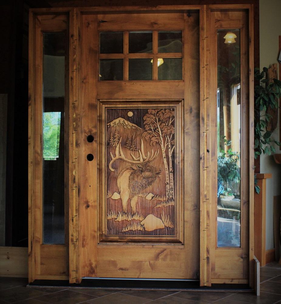 Front door under construction.