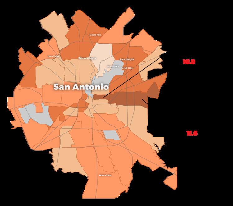 Hispanic Infant Mortality Rate by Zip Code in San Antonio, Texas