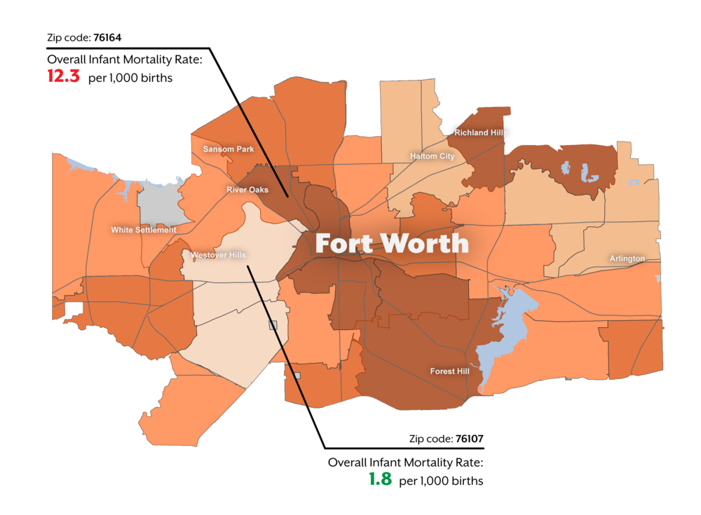 Infant Mortality Rate by Zip Code in Fort Worth