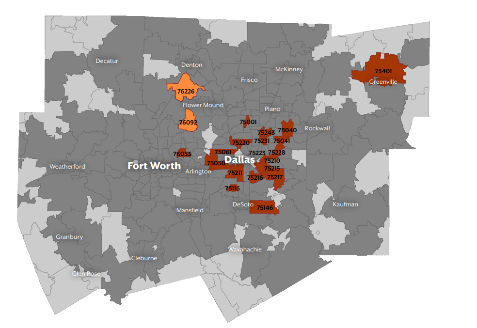 Flower Mound Zip Code Map.High Severe Maternal Morbidity Rates Cluster In Certain Zip Codes
