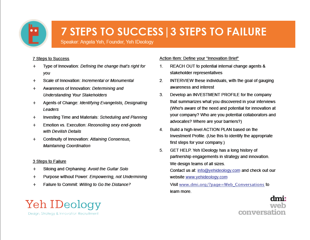 7 Steps to Success, 3 to Failure