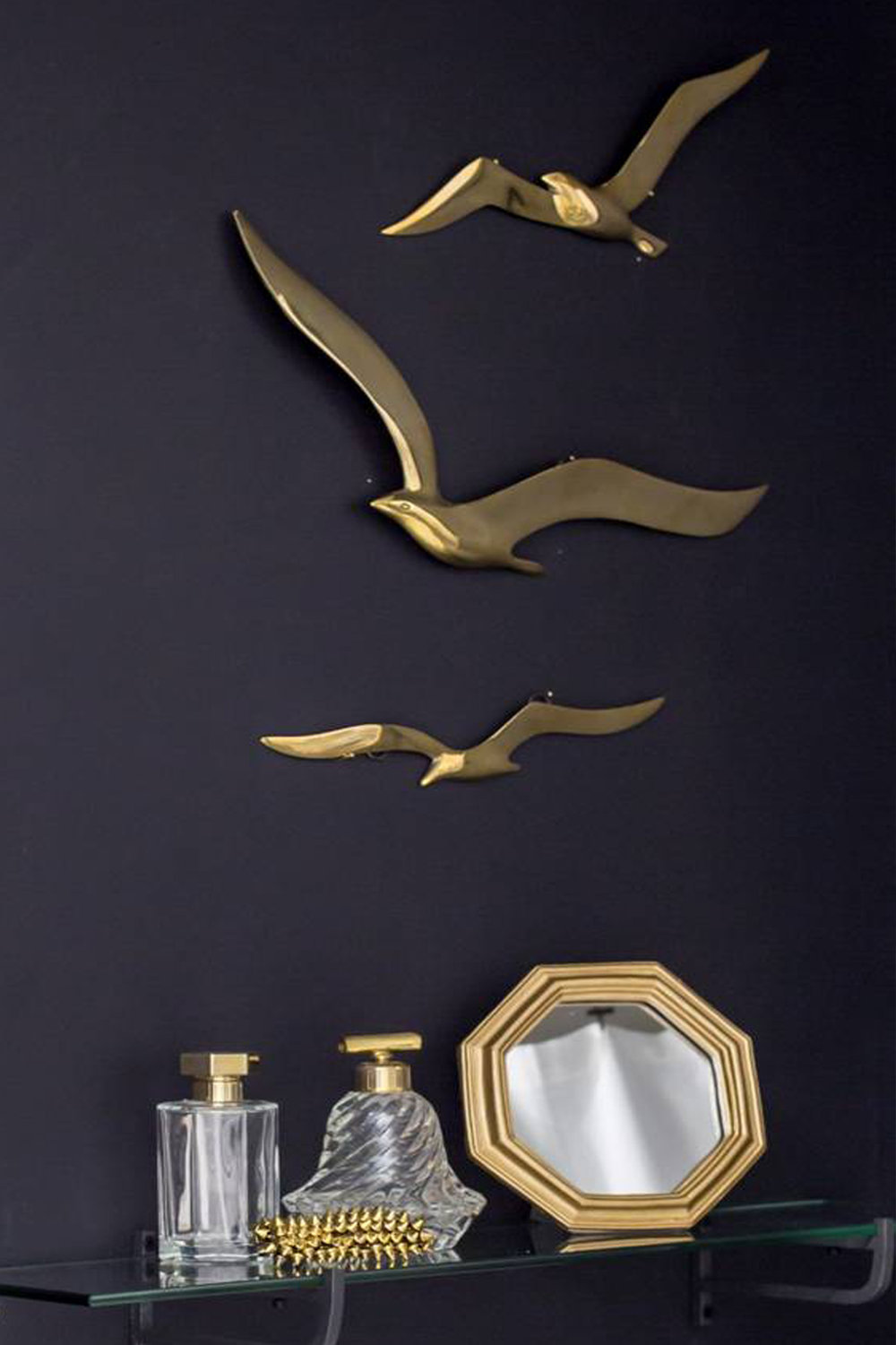 brass birds, brass wall art