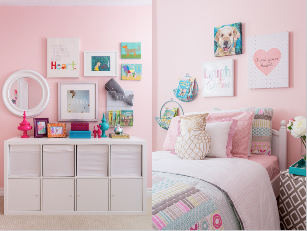 little girls room, pink walls