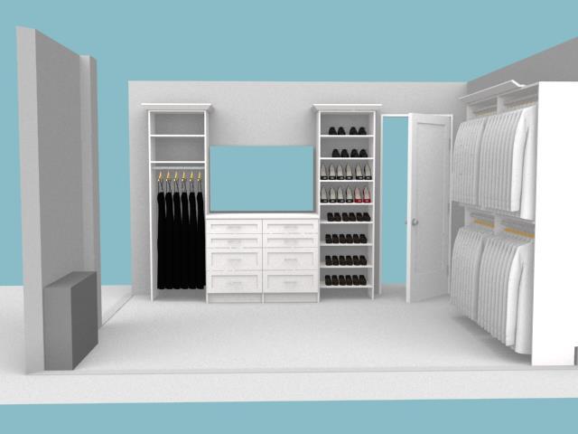 Tailor Living Closet System 3D