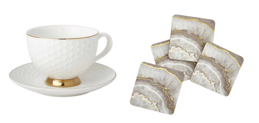 tea cup and coaster, home sense