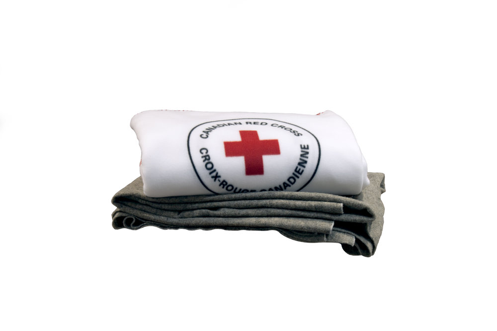 red cross blanket