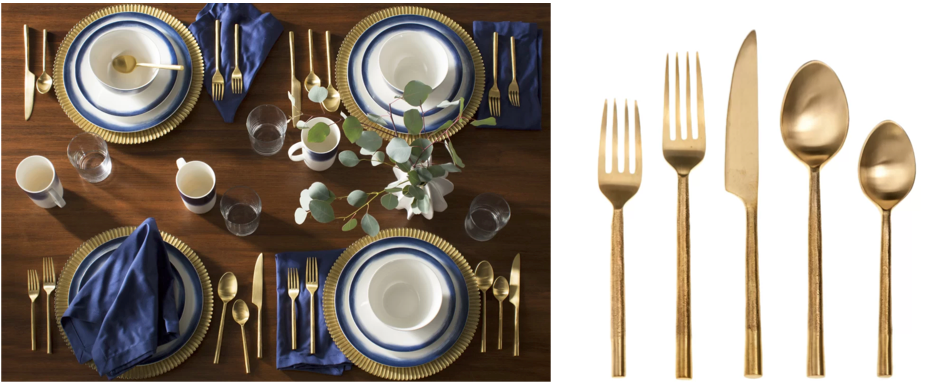 brass cutlery - wayfair