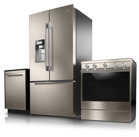 whirlpool appliances, bronze