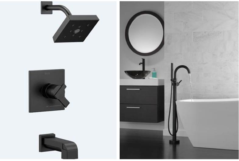 black faucet - delta trinsic