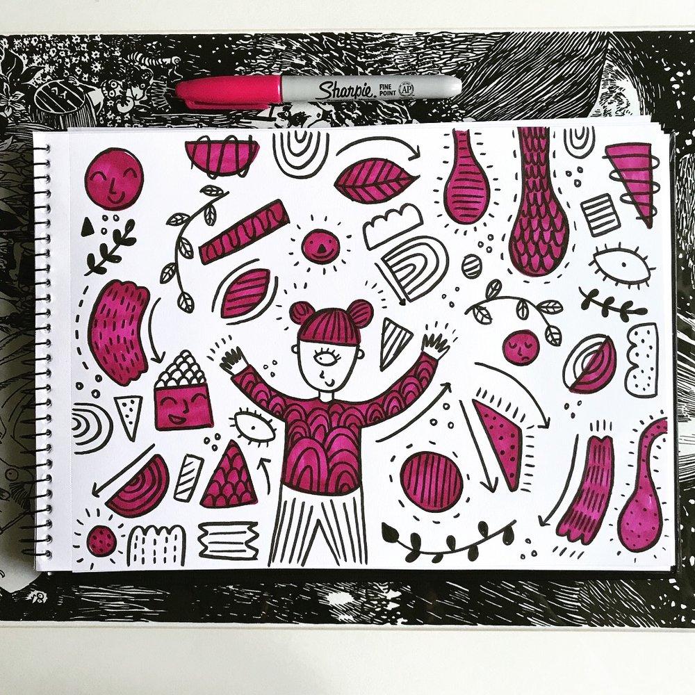 Pink doodle.JPG