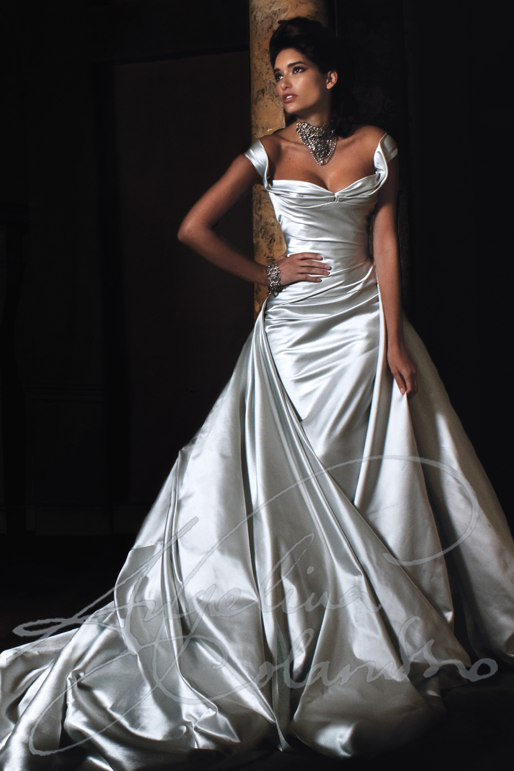 Wedding dresses and bridal wear angelina colarusso for Old lady wedding dresses
