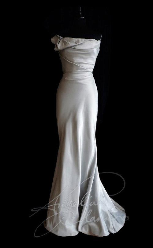 SALE! Silver opera style wedding dress