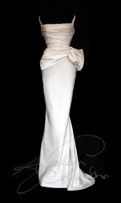 Fishtail Silk Wedding Dress