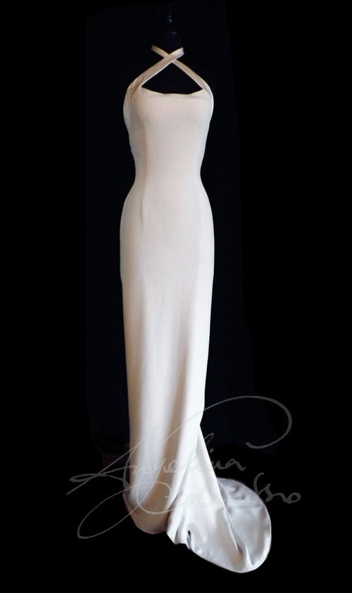 Halter Neck Style Wedding Dress