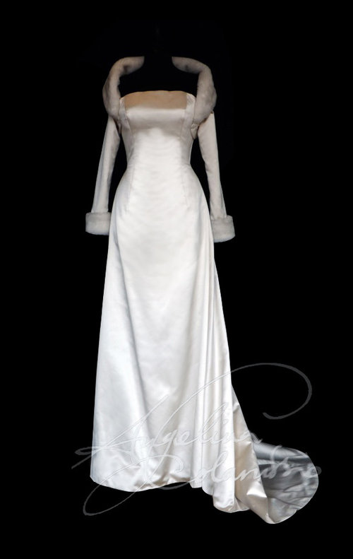 Coloured Silk Wedding Dress