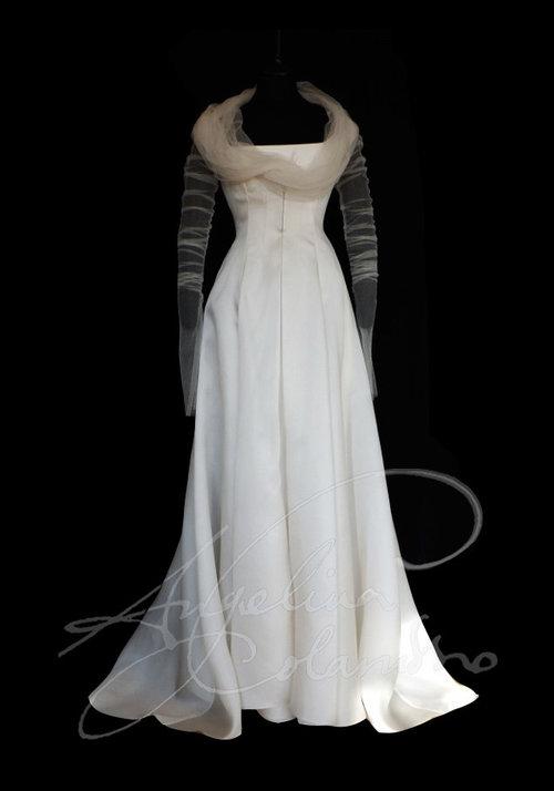 Coloured Silk Wedding Dress
