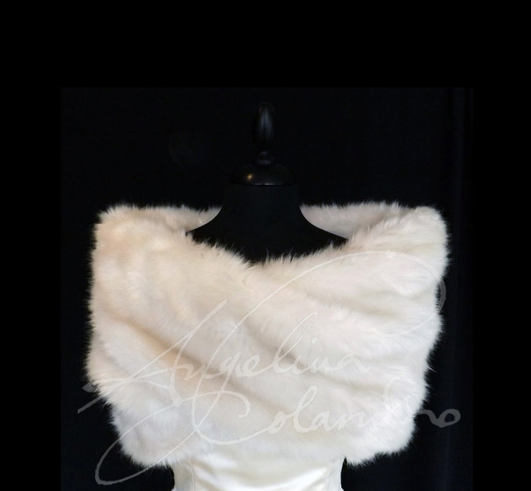 Fur Wrap Wedding Dress