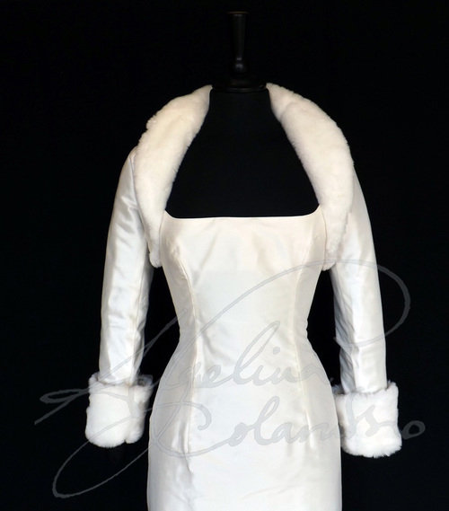 Silk Taffeta Bolero Wedding Dress