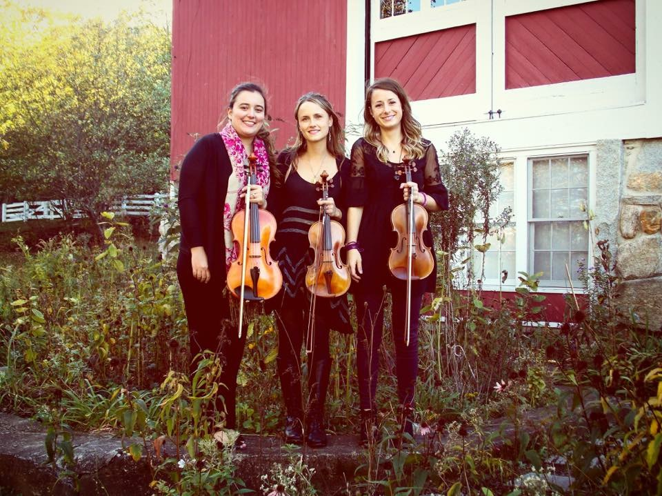 Our first photo shoot in Fall 2016. We hadn't found a full time cellist yet, but that would soon change! L-R: Sylvia DiCrescentis, Kathryn Haddad, Brittany Stockwell.