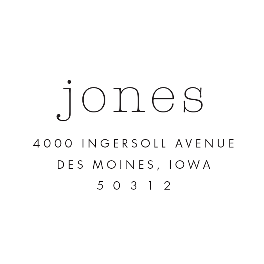 STAMP NAME: JONES