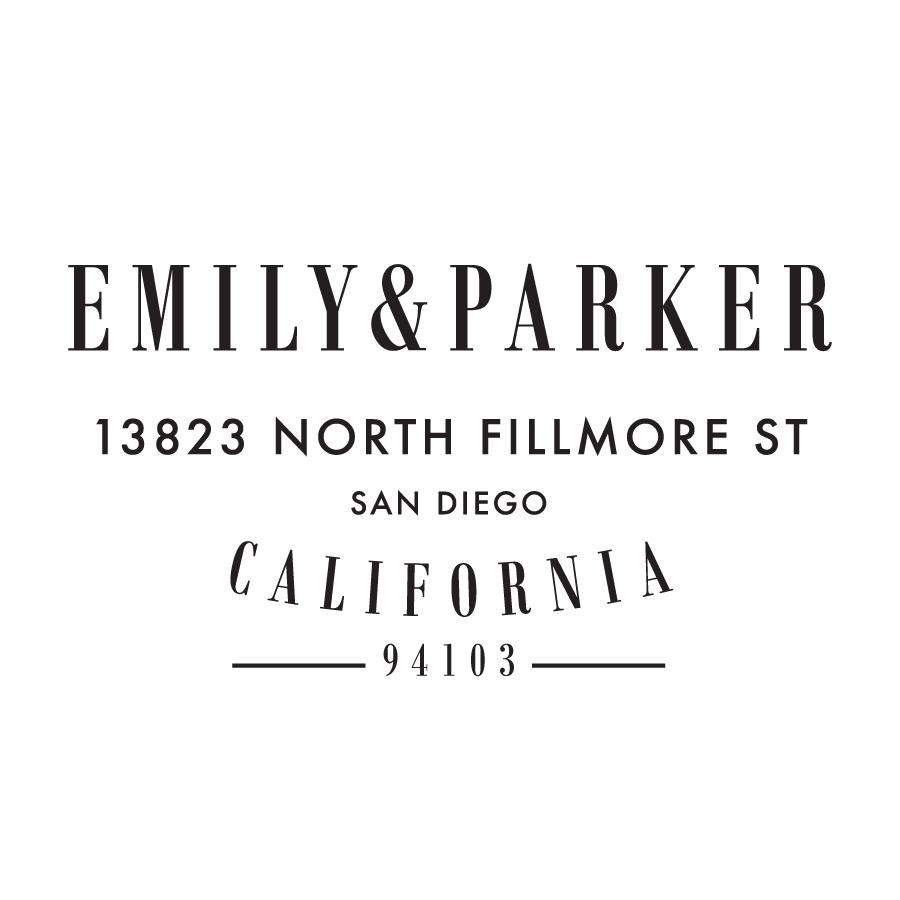 STAMP NAME: EMILY & PARKER