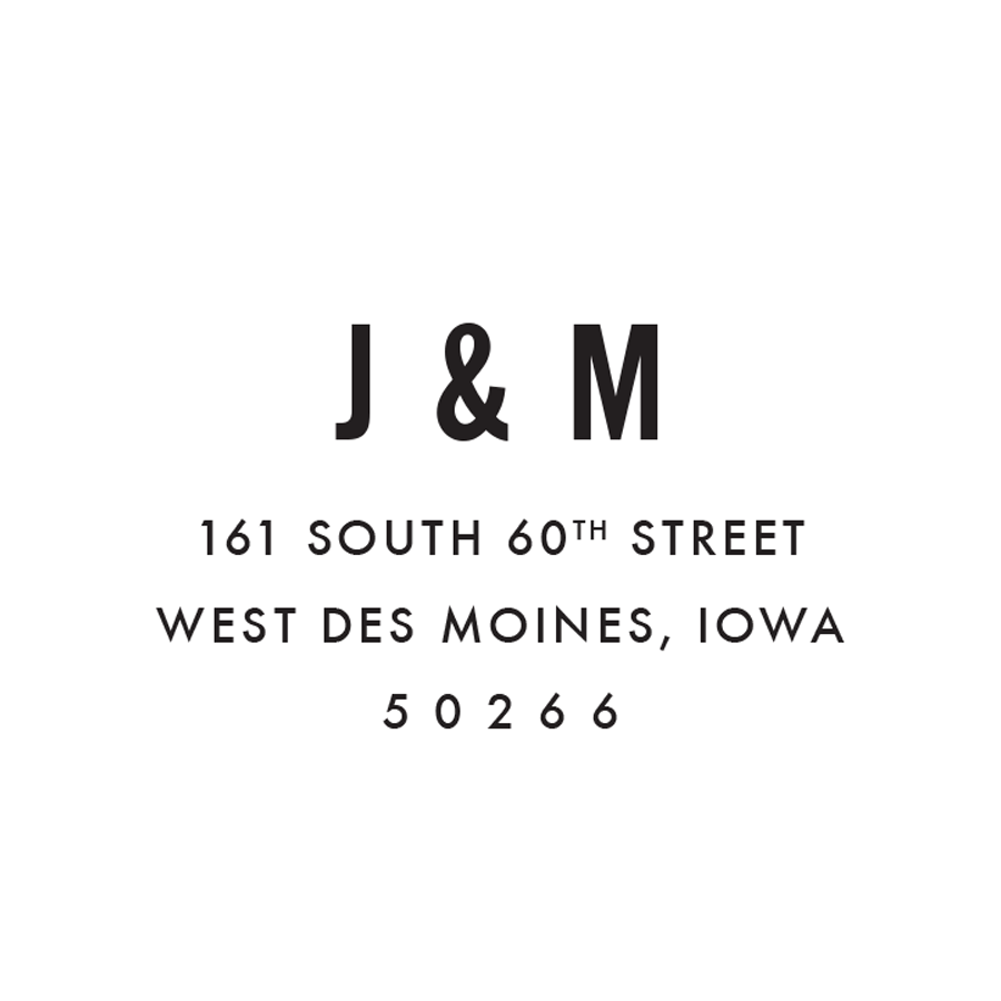 STAMP NAME: J&M