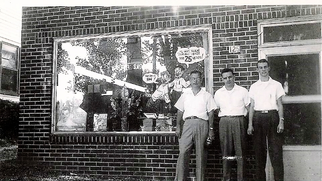 Field's Barbershop Firlds, Harold Casey, Donald Bramley.jpg