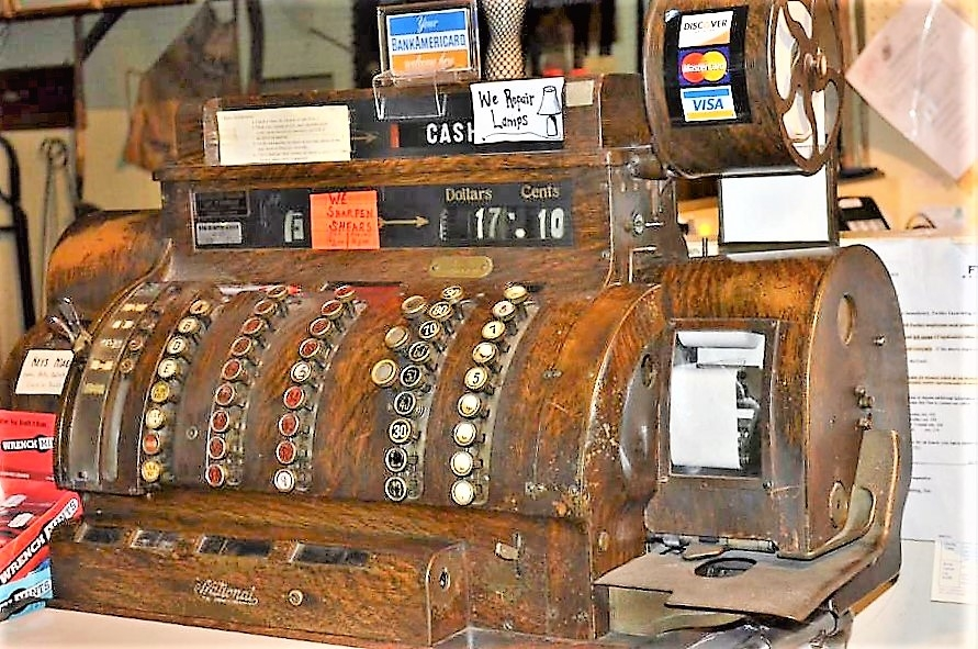 The 1919 cash register, with four drawers and a myriad of buttons, some with the numbers worn off, that Steve bought to replace the original one, because the old one only went up to $9.99, is still present in the store today which has lasted over seventy years of use. The register embodies the ideas of tradition and old-fashion business which Willard Stephenson promoted when he first bought Medina Hardware from the Oatman brothers.
