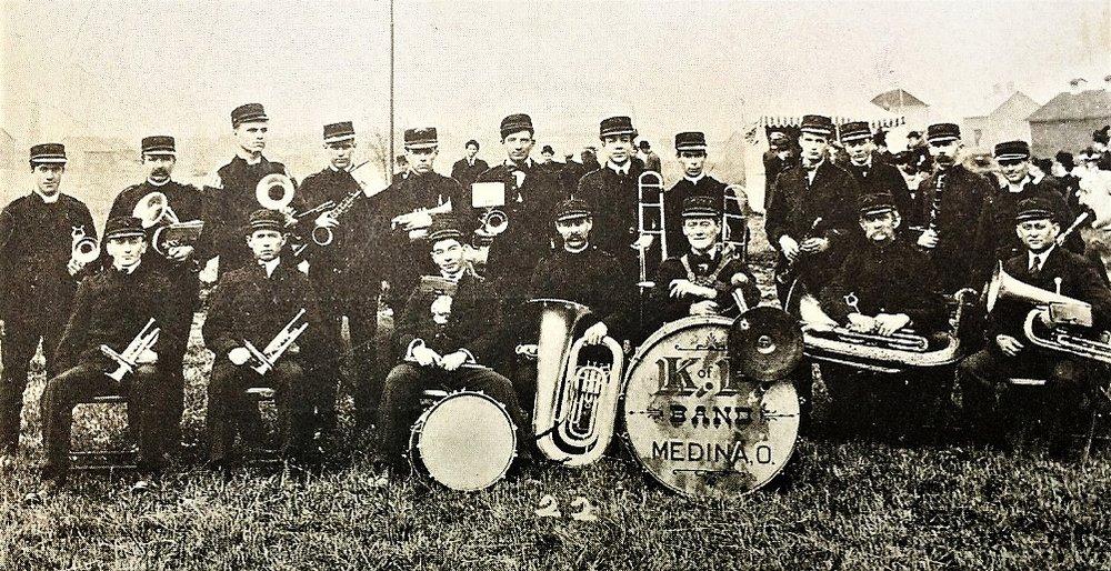 Medina K of P Band 1909.jpg