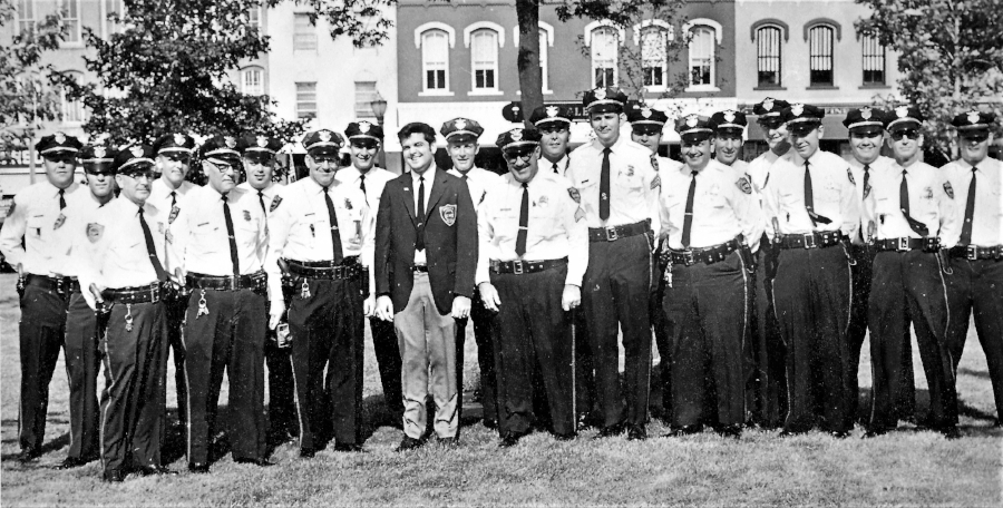 MEDINA POLICE AND SPECIAL POLICE - May 30, 1970     From Left to Right: D. Woodward, D. Gardner, M. Shirey, A. Failor, M. Frederick, D. Krieger, C. Klooz,   B. Andrews, H. Davis, Jr. J. Hoyt, S. Bowman, J. Dunkle, M. Sailer, J. Simko, R. Leggett, B. Finney, R. Grive, G. Smiley, J. Gunner, R. Savage, D. Hendricks