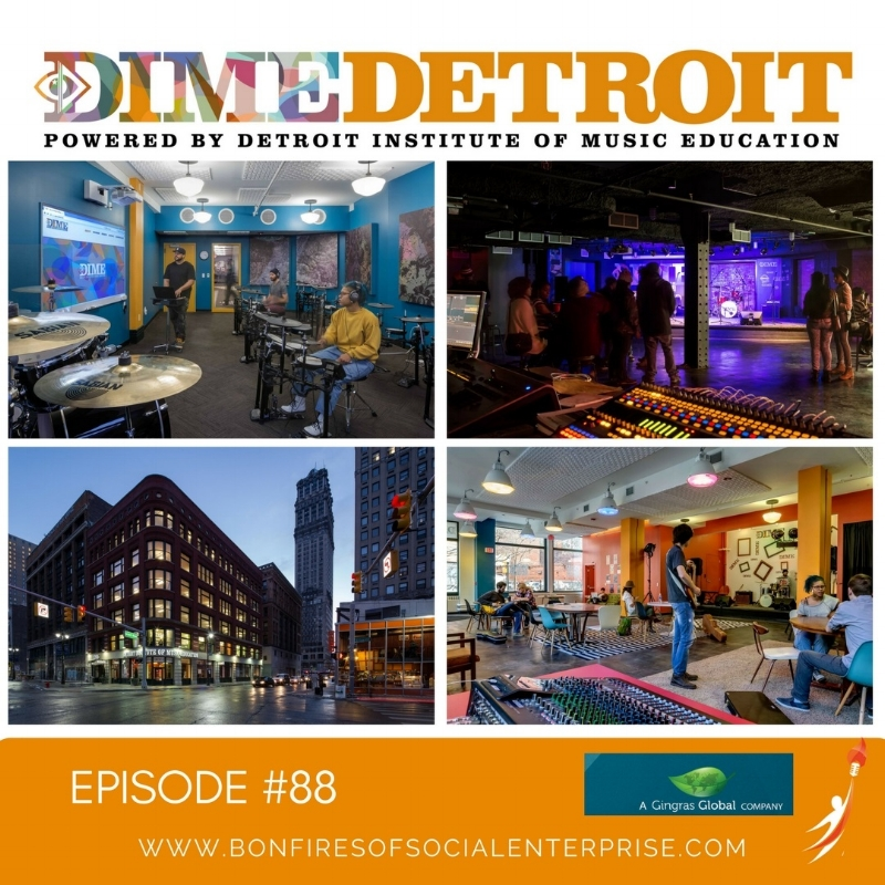 DIME Detroit #88 - Hear from the founders who took a chance, traded London for Detroit and began to engage with the young music talent of Detroit and then Denver. As usual, stay to the end and enjoy a full song from one of the student artists from DIME.Listen Now!
