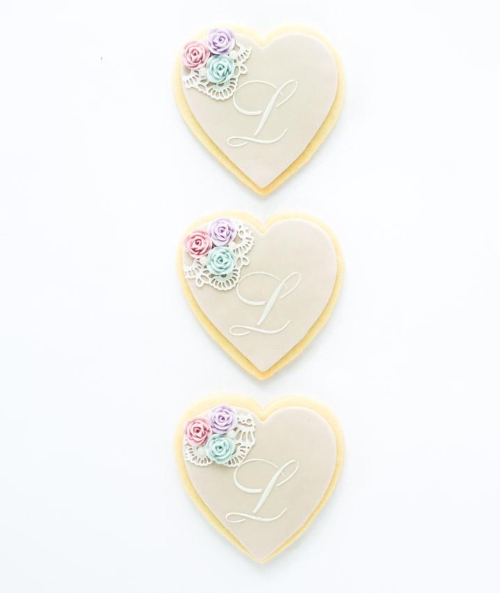 Vintage Monogram Cookies