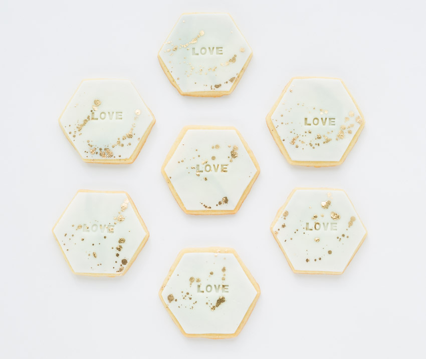 """Love Hex"" Sugar Cookies"