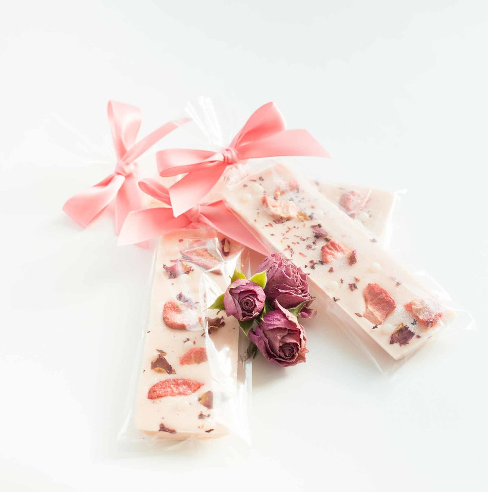 Strawberry Rose Chocolate Batons