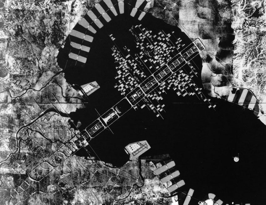 Kenzo Tange, A Plan for Tokyo (Bay) 1960-1961