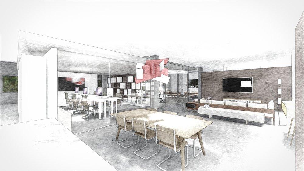 Contemporary Armazem Showroom in DCOTA Building, Florida