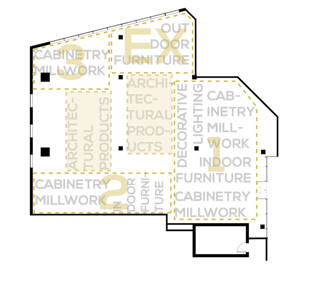 Circulation Plan Armazem Showroom Design Center of the Americas, Florida
