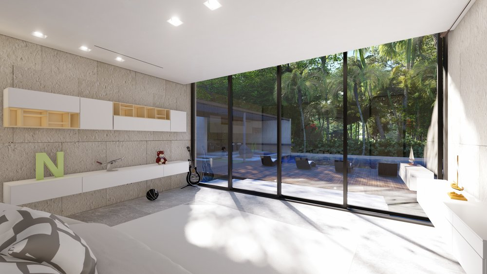 Contemporary Playroom Miami Luxury Home by KoDA