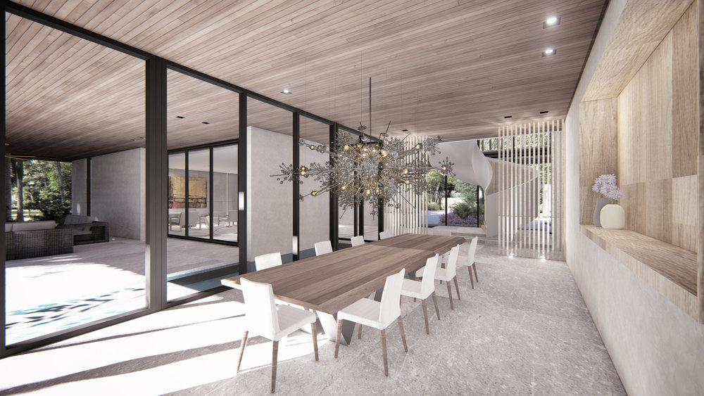 Contemporary Dining Room Miami Residence by KoDA