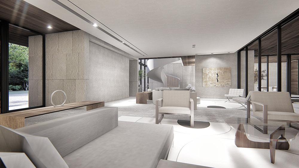 Luxury Living Room Miami by KoDA Miami