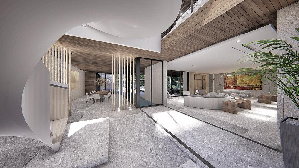 Contemporary Living Room Coconut Grove Miami by KoDA