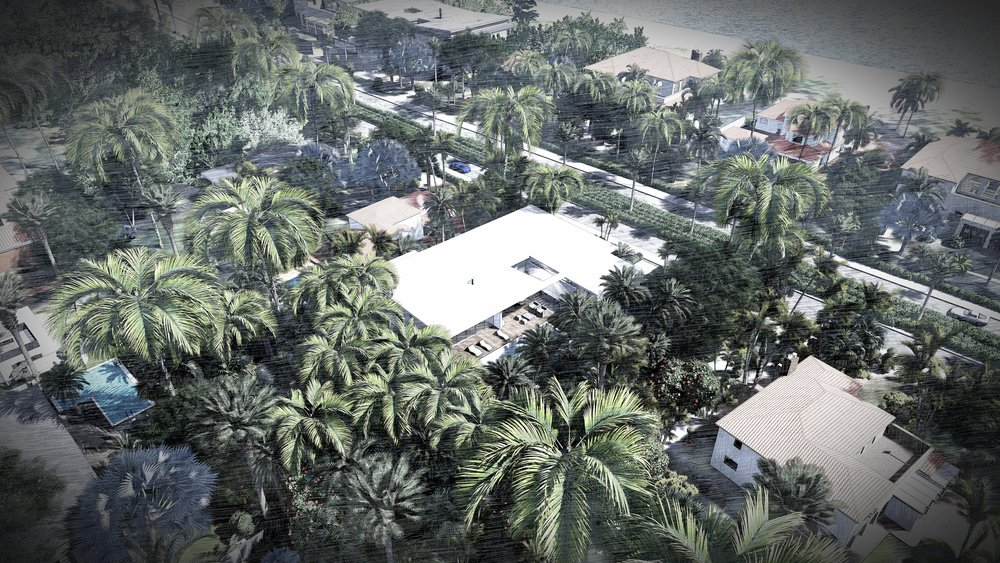 Golden Beach Oceanfront Home Aerial View by KoDA Miami