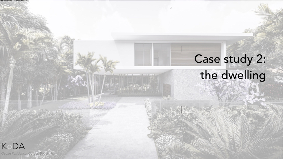 The second project I would like to share is how Metabolist concepts have inspired a single-family residence that we're designing within an oceanfront community.