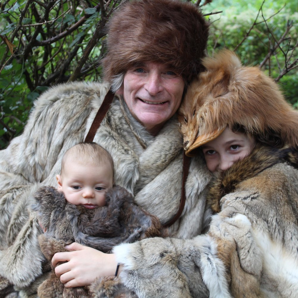 Robin Moore - shown demonstrating how adults and children in what is now Pennsylvania might have dressed for the Ice Age -- will conduct a program at the Eicher Arts Center in Ephrata on Nov. 4 at 2 p.m.
