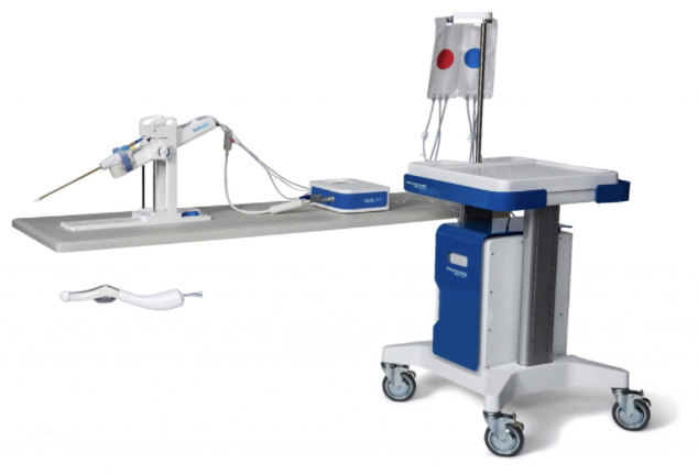 The TULSA-PRO system is comprised of three components: a transurethral ultrasound applicator, a robotic positioning system, and Treatment Delivery Console