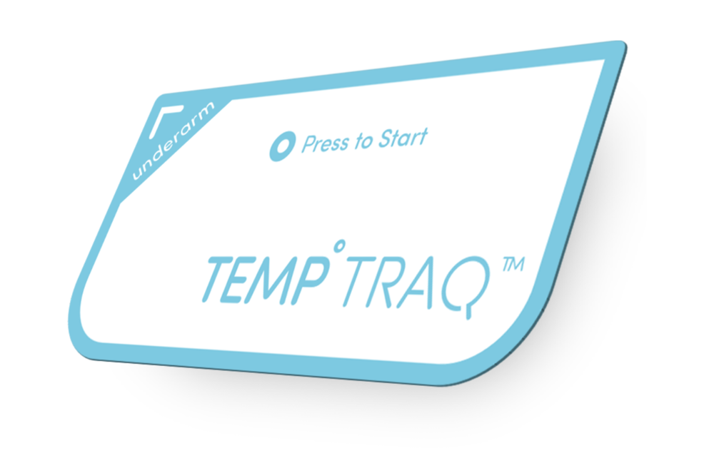 Temptraq is a wearable patch consists of a temperature sensor, microprocessor, communication module, with a thin, flexible battery